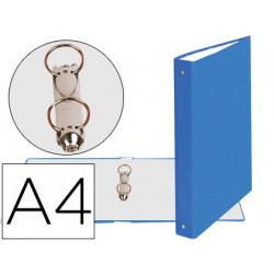 Carpeta de 2 anillas 30mm redondas exacompta din a4 carton forrado azul cla