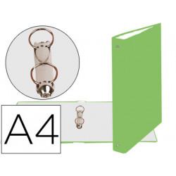 Carpeta de 2 anillas 30mm redondas exacompta din a4 carton forrado verde an