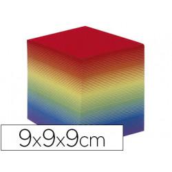 Taco papel quo vadis encolado colores arco iris 680 hojas 100% reciclado 90