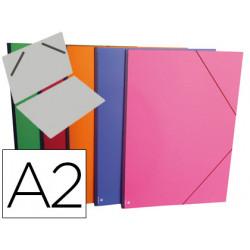 Carpeta planos clairefontaine din a2 con gomas carton gofrado colores surti
