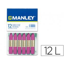 Lapices cera manley unicolor lila nº 39 caja de 12