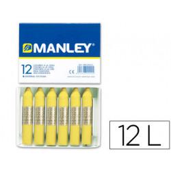 Lapices cera manley unicolor verde amarillo claro nº 47 caja de 12