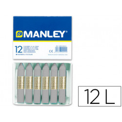 Lapices cera manley unicolor gris nº 72 caja de 12