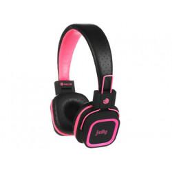 Auricular ngs artica jelly con microfono bluetooth ranura tarjeta sd rosa