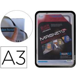 Marco porta anuncios tarifold magneto din a3 con 4 bandas magneticas en el
