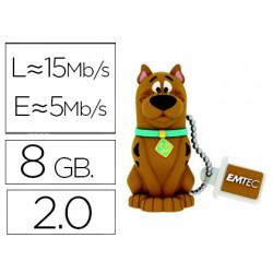 Memoria usb emtec flash 8 gb 20 scooby doo