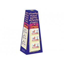 Etiqueta arguval 3x5 cm expositor de 160 blister