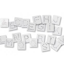 Letra adhesiva individual diamante 15 cm altura blister de 25 unidades