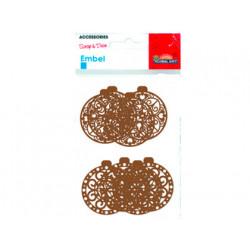 Scrap navidad precortados carton 5 modelos + accesorios 35 piezas