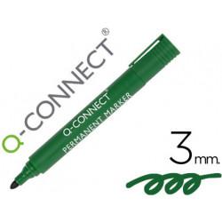 Rotulador qconnect marcador permanente verde punta redonda 30 mm
