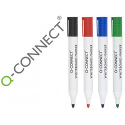 Rotulador qconnect pizarra blanca colores surtidos punta redonda 30 mm