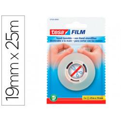 Cinta adhesiva tesafilm sin tijeras 25 m x 19 mm
