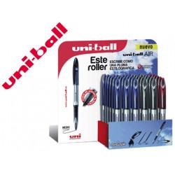 Boligrafo uniball roller air uba188l 07 mm tinta liquida 3d expositor d