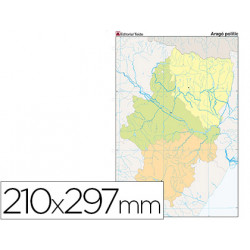 Mapa mudo color din a4 aragon politico