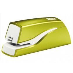 Grapadora petrus electrica e310 wow verde metalizado capacidad 12 hojas us