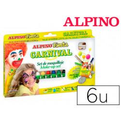 Barra maquillaje alpino carnaval 6 colores surtidos