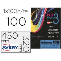 Etiqueta adhesiva avery sra3 teslan blanco opaco 320x450 mm para impresora