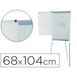Pizarra blanca rocada con tripode para conferencias magnetica lacada brazo