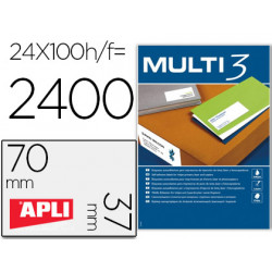 Etiqueta adhesiva multi 3 apli 70x37 mm fotocopiadora laser inkjet caja co