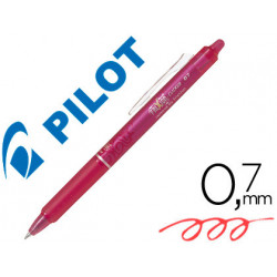 Boligrafo pilot frixion clicker borrable 07 mm color rosa en blister