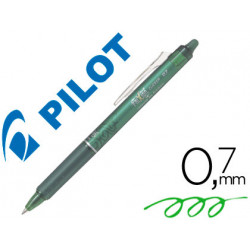 Boligrafo pilot frixion clicker borrable 07 mm color verde claro en bliste