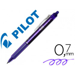 Boligrafo pilot frixion clicker borrable 07 mm color violeta en blister