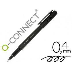 Rotulador qconnect punta de fibra fine liner negro 04 mm