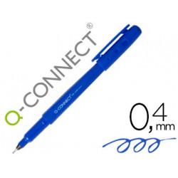 Rotulador qconnect punta de fibra fine liner azul 04 mm