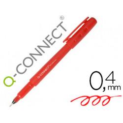 Rotulador qconnect punta de fibra fine liner rojo 04 mm