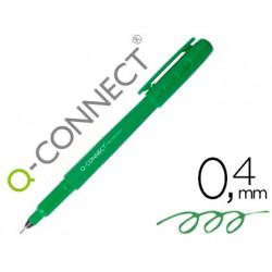 Rotulador qconnect punta de fibra fine liner verde 04 mm