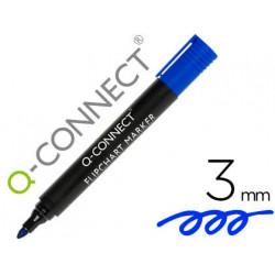 Rotulador qconnect marcador para bloc congreso azul punta redonda 30 mm