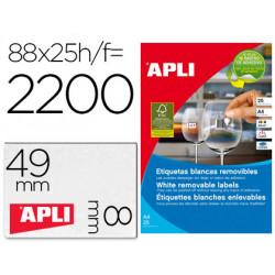 Etiqueta adhesiva apli removible 10314 especial joyeria 45x8 mm fotocopiado