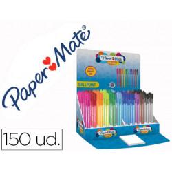 Boligrafo paper mate inkjoy 100 punta media trazo 1 mm expositor de 150 uni