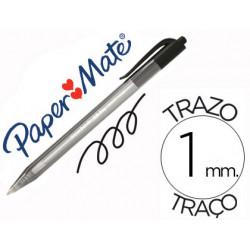 Boligrafo paper mate inkjoy 100 retractil punta media negro