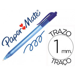 Boligrafo paper mate inkjoy 100 retractil punta media azul