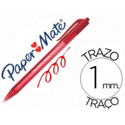 Boligrafo paper mate inkjoy 100 retractil punta media rojo