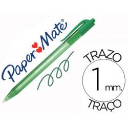 Boligrafo paper mate inkjoy 100 retractil punta media verde