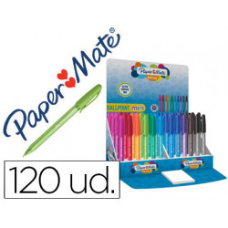 Boligrafo paper mate inkjoy mini 100 punta media expositor de 120 unidades