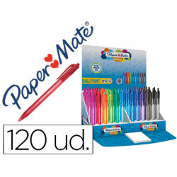 Boligrafo paper mate inkjoy 100 retractil mini punta media expositor de 120