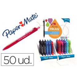 Boligrafo paper mate inkjoy 300 retractil punta media trazo 1 mm expositor