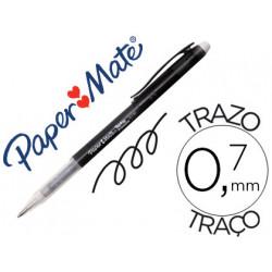 Boligrafo replay premium negro con goma de borrar