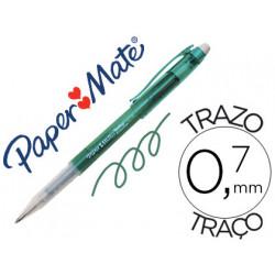 Boligrafo replay premium verde con goma de borrar