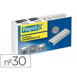 Grapas rapid omnipress 30 galvanizadas caja de 1000 grapas