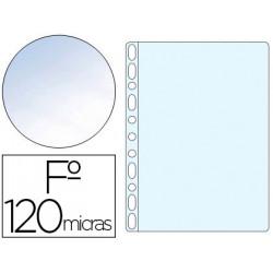 Funda multitaladros qconnect folio 120 mc cristal bolsa de 10 unidades