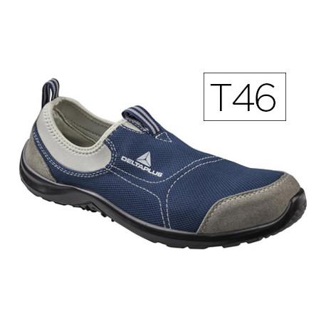 Zapatos de seguridad deltaplus de poliester y algodon con plantilla y punte