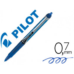 Rotulador pilot punta aguja v7 retractil azul 07 mm