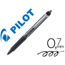 Rotulador pilot punta aguja v7 retractil negro 07 mm