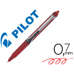 Rotulador pilot punta aguja v7 retractil rojo 07 mm