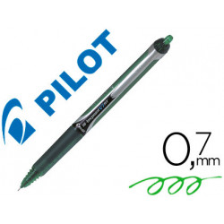 Rotulador pilot punta aguja v7 retractil verde 07 mm
