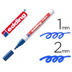 Rotulador edding punta fibra 751 azul punta redonda 12 mm